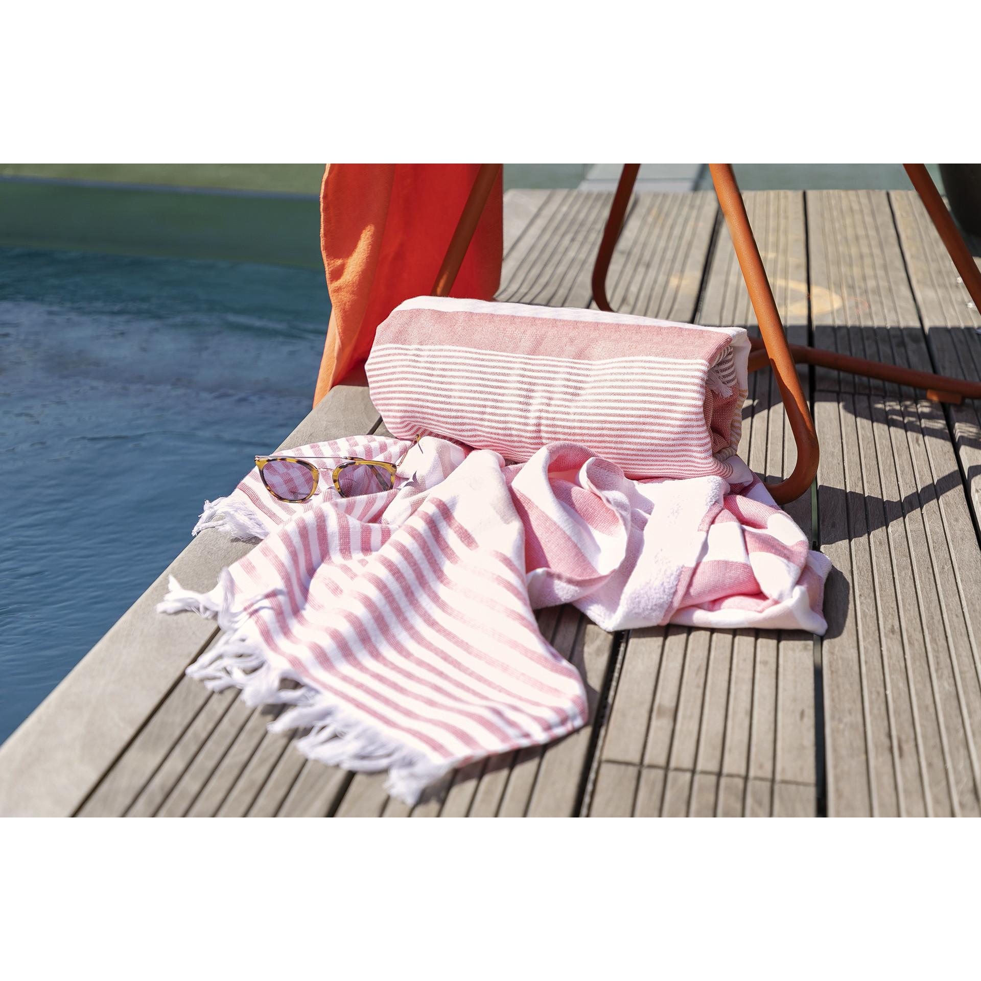 Handtuch Portofino 100 x 180 cm   Ziegelrot
