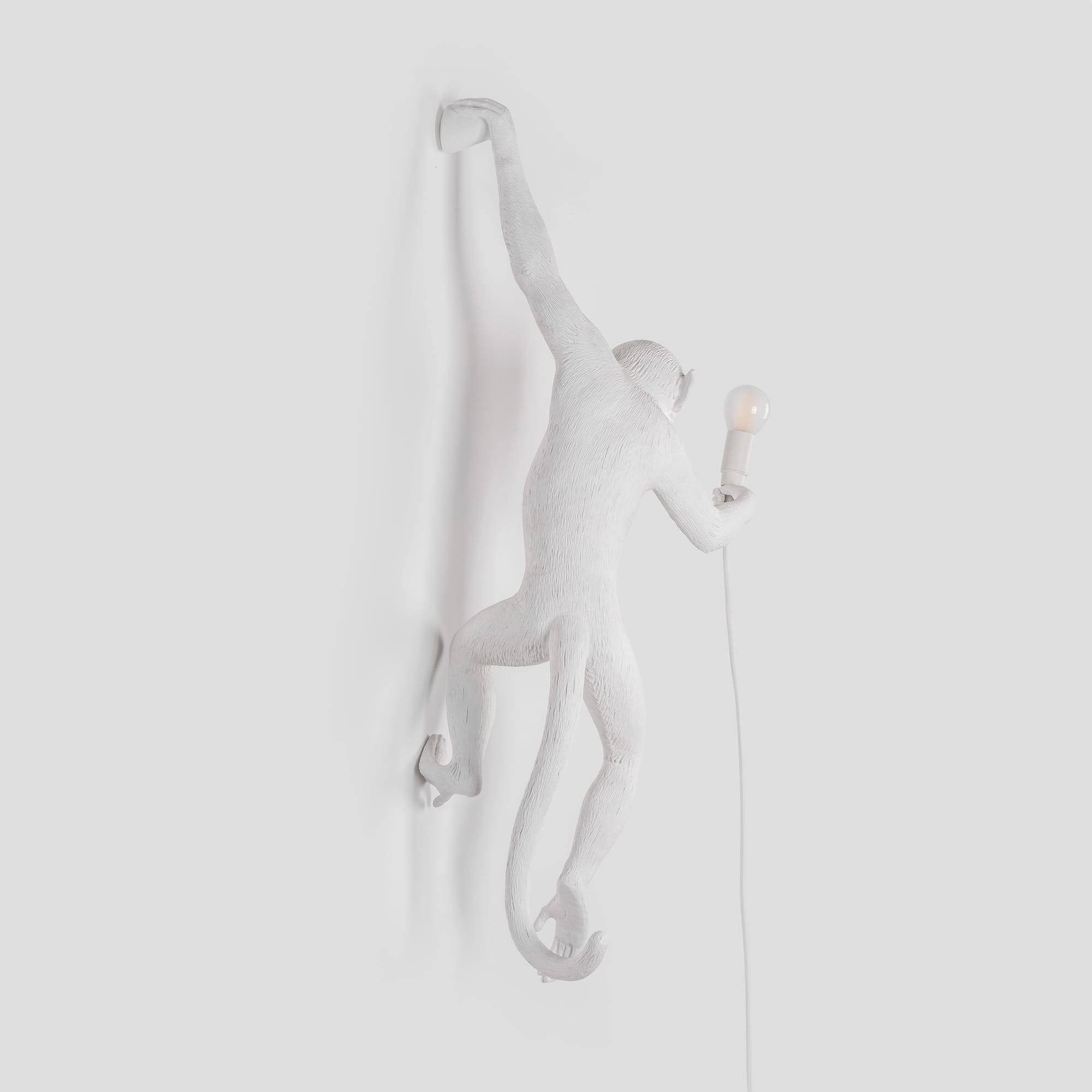 Lampenaffe Hängend | Weiß