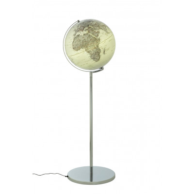 Stehender Globus mit Beleuchtung Sojus | Silber