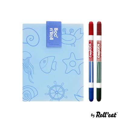 Wiederverwendbare Sandwichfolie Boc'n'Roll-Farbe Meer | Blau