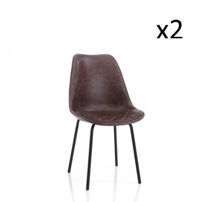2er-Set   Stuhl Seattle   Braun