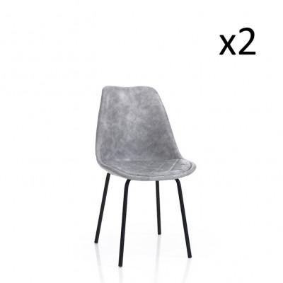 2er-Set   Stuhl Seattle   Grau