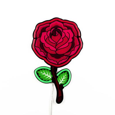 LED-Neon-Wandlampe Rose