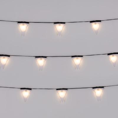 Lichtkabel Sagra 16 Leuchten | Schwarzer Draht