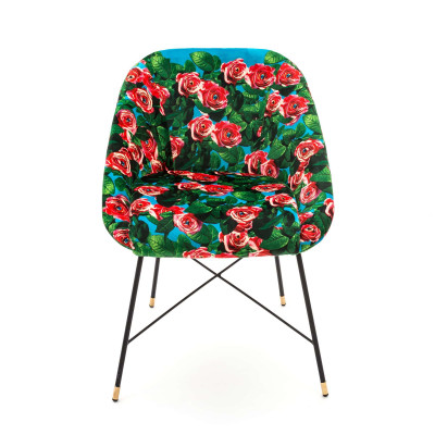 Padded Chair   Roses