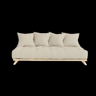 Sofa Senza | Natural Frame + Beige Mattress