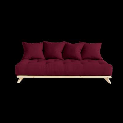 Sofa Senza | Natural Frame + Bordeaux Mattress