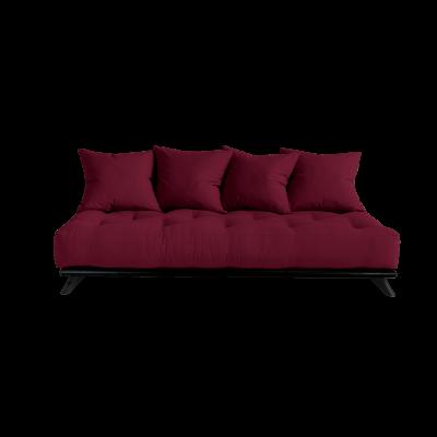 Sofa Senza | Black Frame + Bordeaux Mattress