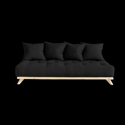 Sofa Senza | Natural Frame + Dark Grey Mattress