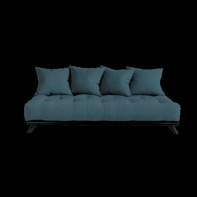 Sofa Senza | Black Frame + Deep Blue Mattress