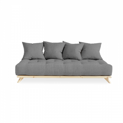 Sofa Senza | Natural Frame + Granite Grey Mattress