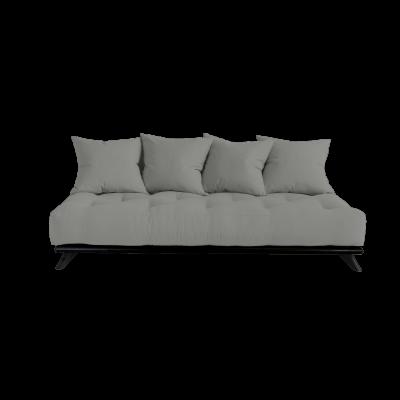 Sofa Senza | Black Frame + Grey Mattress