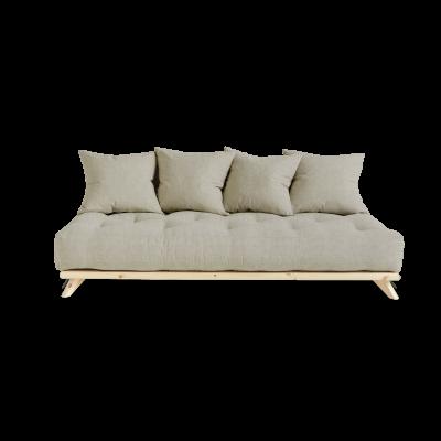 Sofa Senza | Natural Frame + Linen Mattress