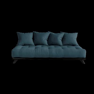 Sofa Senza | Black Frame + Petrol Blue Mattress