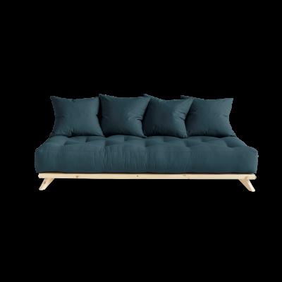 Sofa Senza | Natural Frame + Petrol Blue Mattress