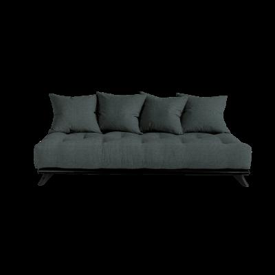 Sofa Senza | Black Frame + Slate Grey Mattress