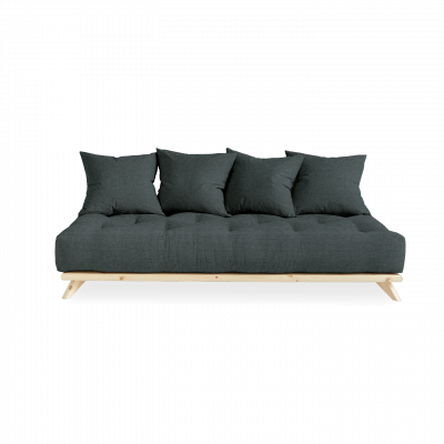 Sofa Senza | Natural Frame + Slate Grey Mattress