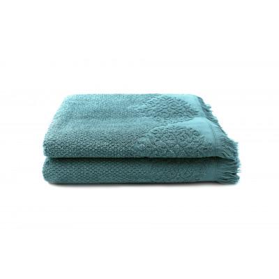 Set of 2 Guest Towels Bella 50 x 100 cm | Petrol