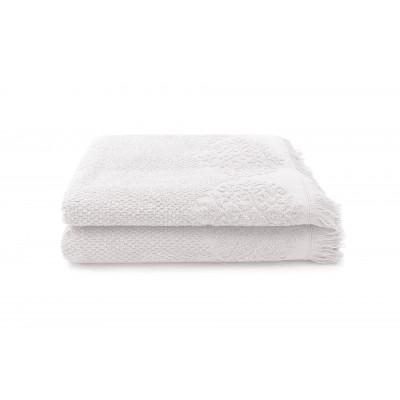 Set of 2 Guest Towels Bella 50 x 100 cm | Perle