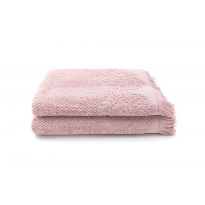 Set of 2 Guest Towels Bella 50 x 100 cm | Pink