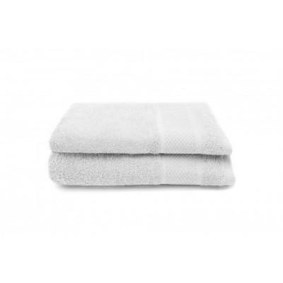 Set of 2 Bath Towels Gigi 50x100 cm | White