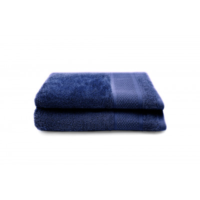 Set of 2 Guest Towels Gigi 30 x 50 cm | Denim Blue
