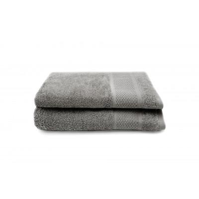 Set of 2 Guest Towels Gigi 30 x 50 cm | Grey
