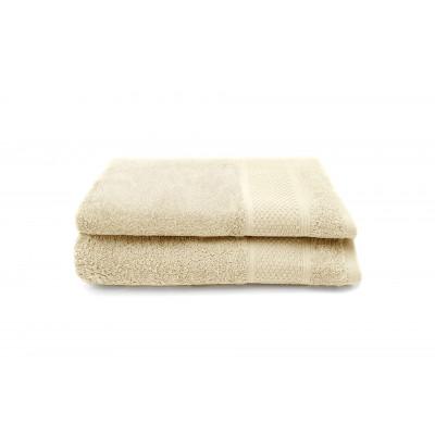 Set of 2 Guest Towels Gigi 30 x 50 cm | Natural