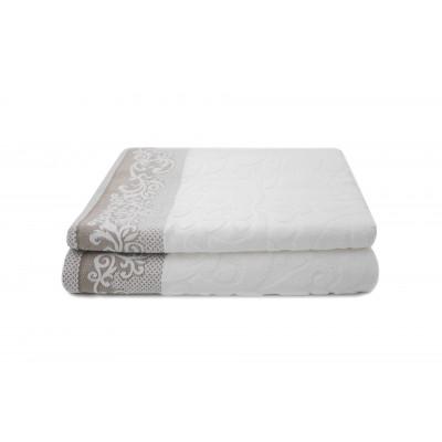 2-er Set Handtücher Kaya 50 x 100 cm | Weiß