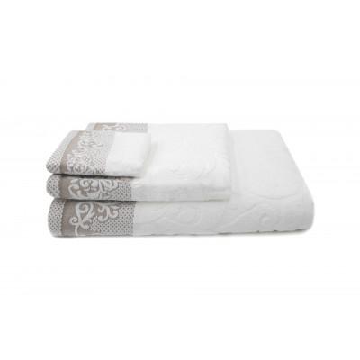 Set of 3 Towels Kaya | White