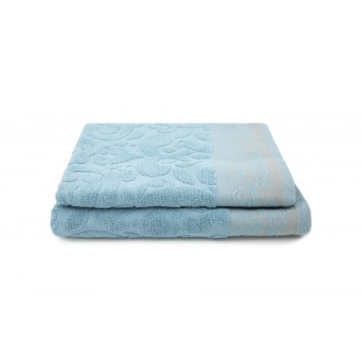Set of 2 Guest Towels Kaya 30 x 50 cm | Turquoise