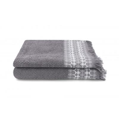 Set of 2 Guest Towels Kendall 30 x 50 cm | Ardoise