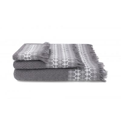 Set of 3 Towels Kendall  | Ardoise