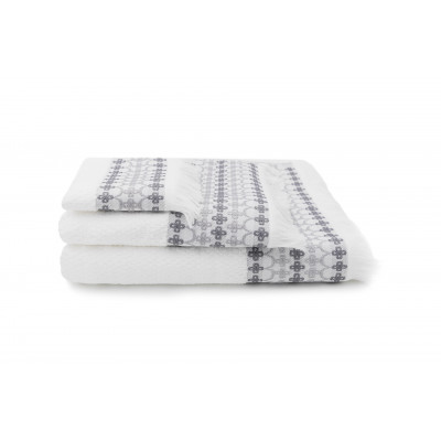 Set of 3 Towels Kendall  | White