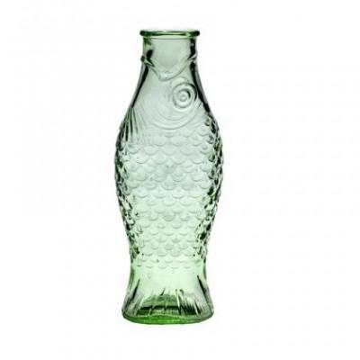 Glasflaschenfisch 1 L | Transparentes Grün