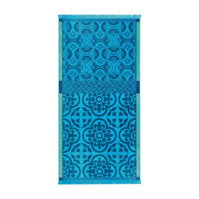 Strandtuch Santorin 200 x 100 cm | Türkenblau