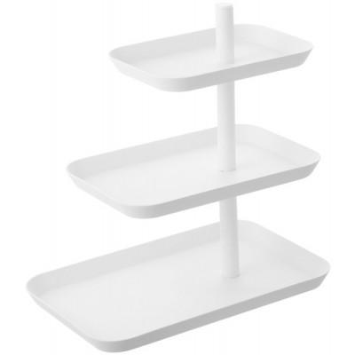 Servierter Stand 3 Stufenturm | Weiß