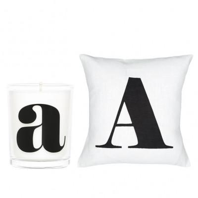 Kissenbezug + Kerze A | Weiß