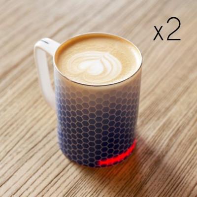 GlowStone Smart Mug Twin Pack | Honeycomb