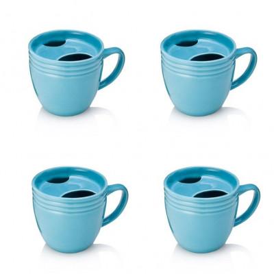 The BEST. MORNING. EVER. Mug Set of 4 | Blue