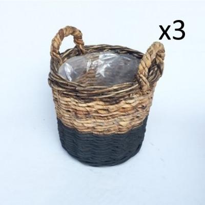 Basket Abaca Set of 3 | Black