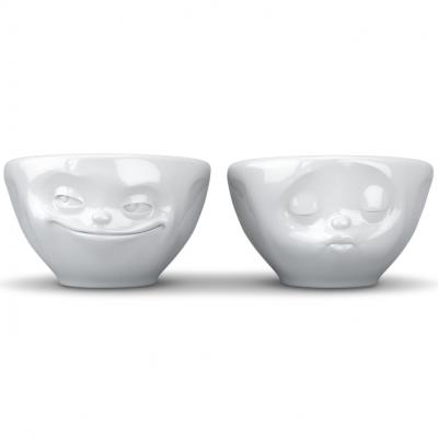 2er-Set Kleine Schüsseln Nr.1 100 ml Grinning & Kissing | Weiß