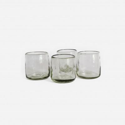 4-er Set Gläser White Lights