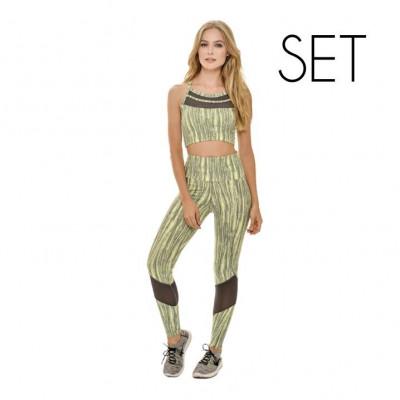 Set (Sport Top + Legging)   Lime Green