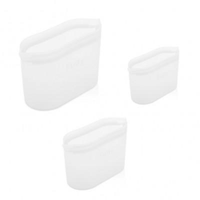 Set mit 3 wiederverwendbaren Boxen Fudy Bowl | Weiß