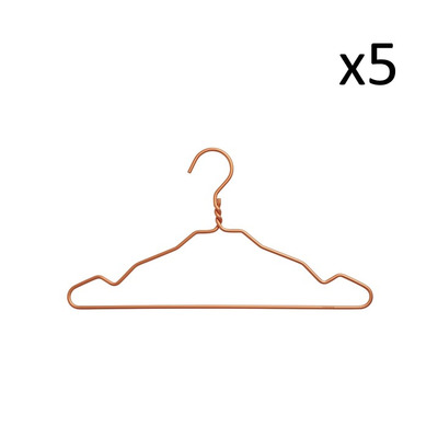 Set of 5 Clothes Hangers | Copper