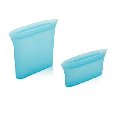 Set mit 2 wiederverwendbaren Boxen Fudy Snack | Blau