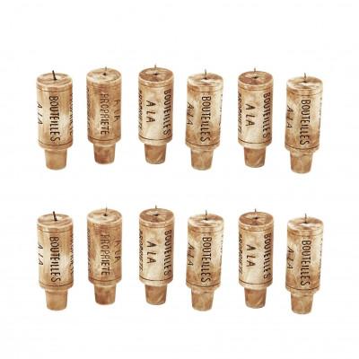 Wine Cork Candles | Set of 12