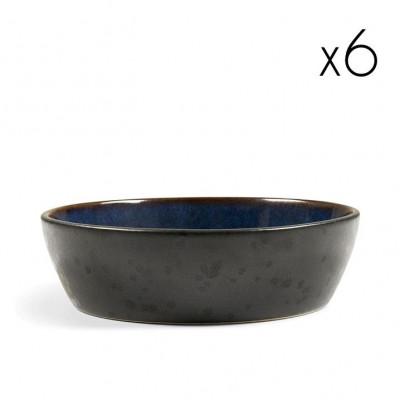 Schüssel Ø 18 cm 6er-Set | Schwarz / Dunkelblau