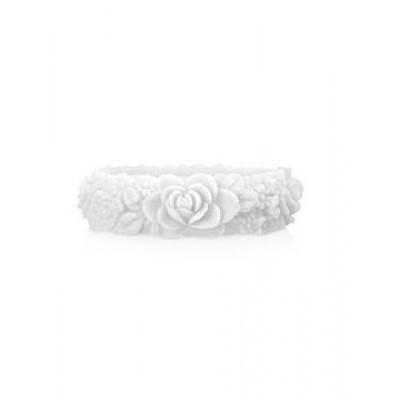 Großes Blumenarmband   Weiß